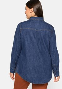 Sheego - Button-down blouse - blue denim - 2