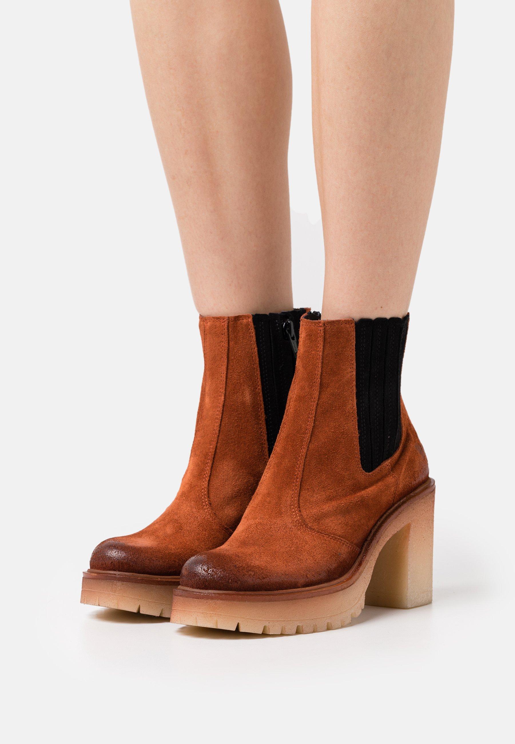 Women COMBI - Platform ankle boots