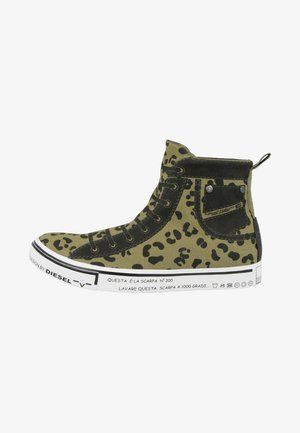 High-top trainers - olive drab
