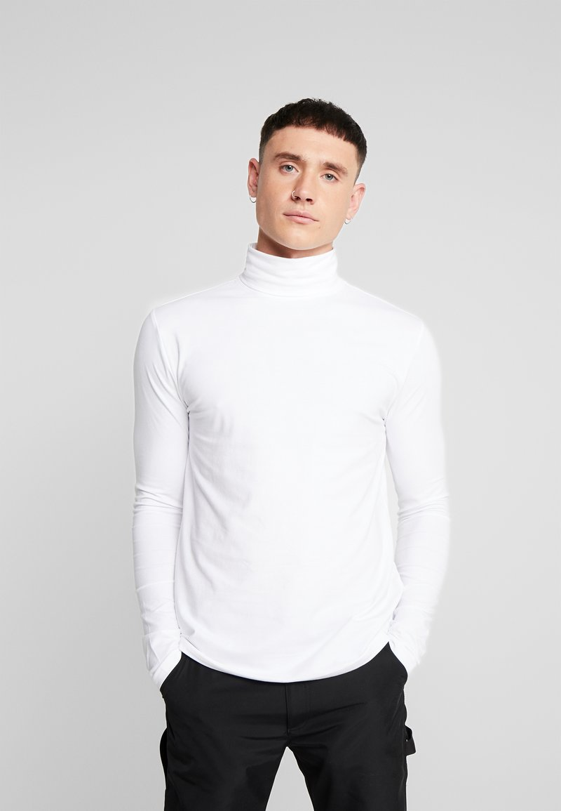 Only & Sons - ONSMICHAN SLIM ROLLNECK TEE - Top s dlouhým rukávem - white