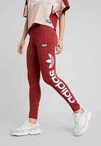 adidas Originals - TIGHTS - Legíny - mystery red/white - 0