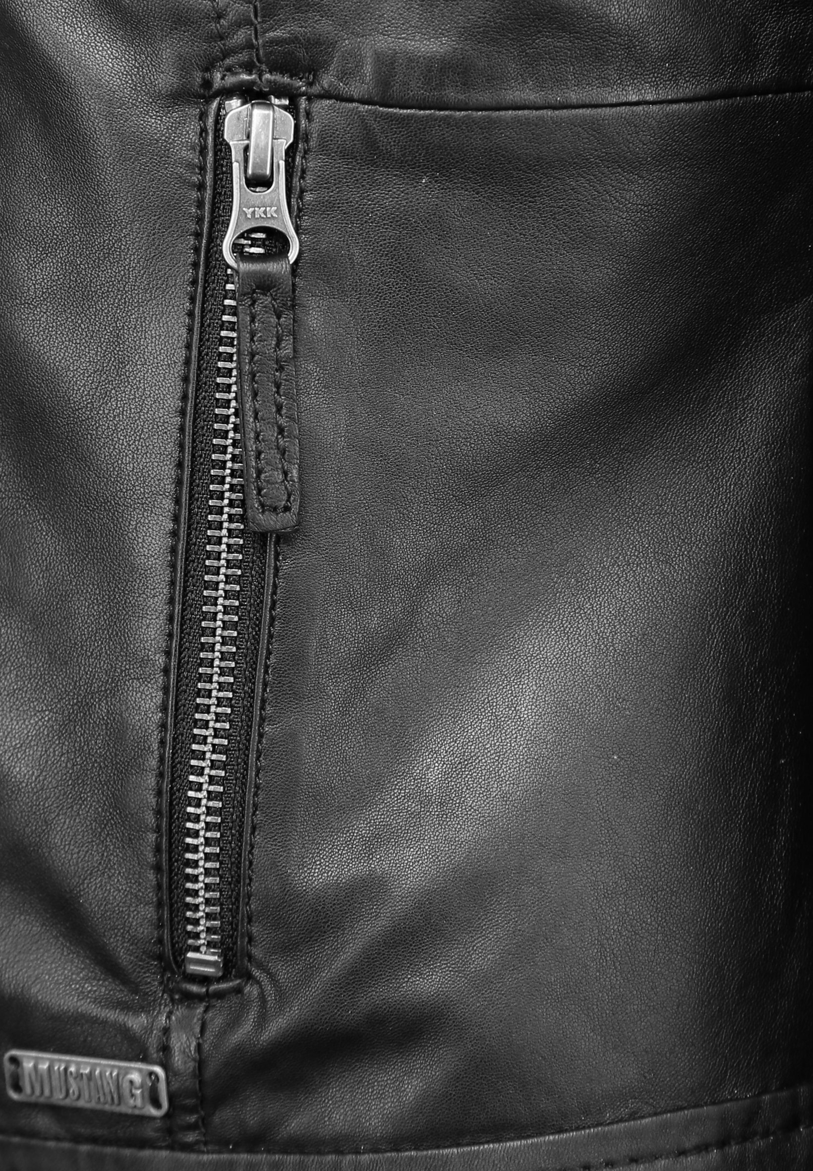 Mustang MIT STEHKRAGEN  Lederjacke black/schwarz