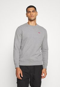 Levi's® - NEW ORIGINAL CREW UNISEX - Sweatshirt - chisel grey heather - 0