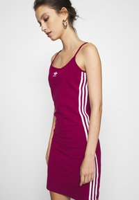 adidas Originals - TANK DRESS - Shift dress - power berry/white - 3
