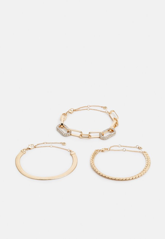 MIREATHIEL 3 PACK - Bracciale - clear on gold-coloured