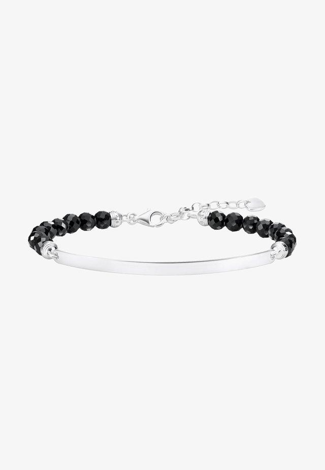 SCHWARZ  - Armband - silver-coloured,black