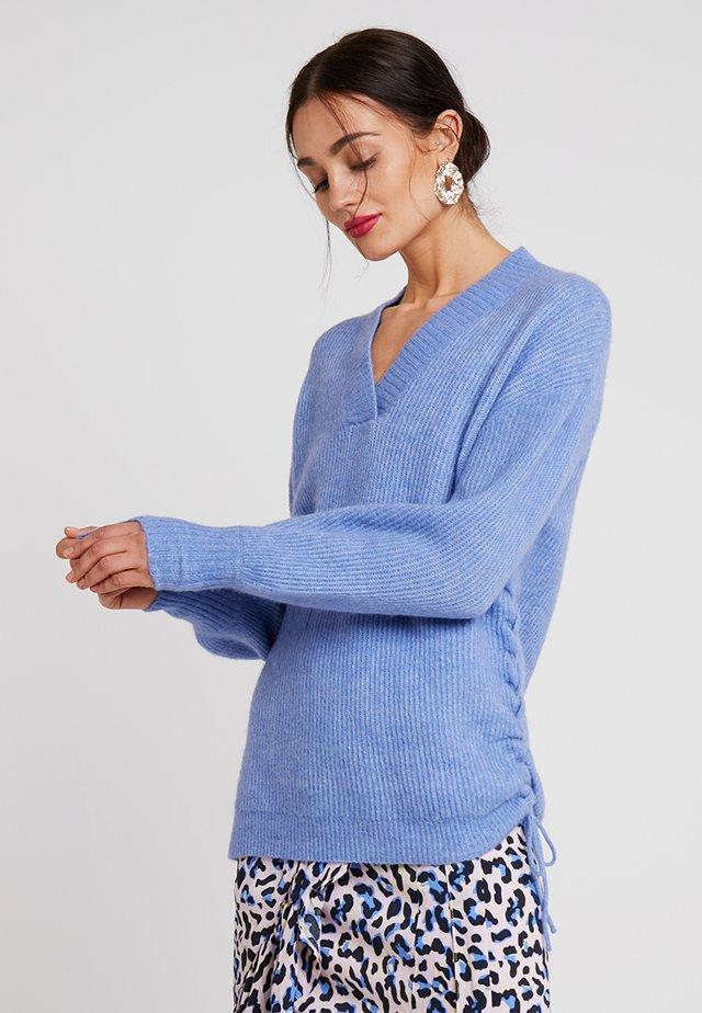 CILLE - Stickad tröja - pool blue