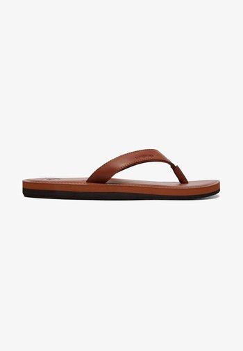 Pantoffels - tan - solid