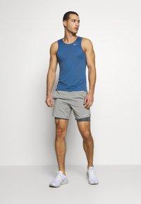 Nike Performance - MILER JAQUARD  - Sports shirt - dark smoke grey/reflective silver - 1