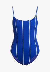 Weekday - SUN STRIPED SWIMSUIT - Swimsuit - blue dark - 4