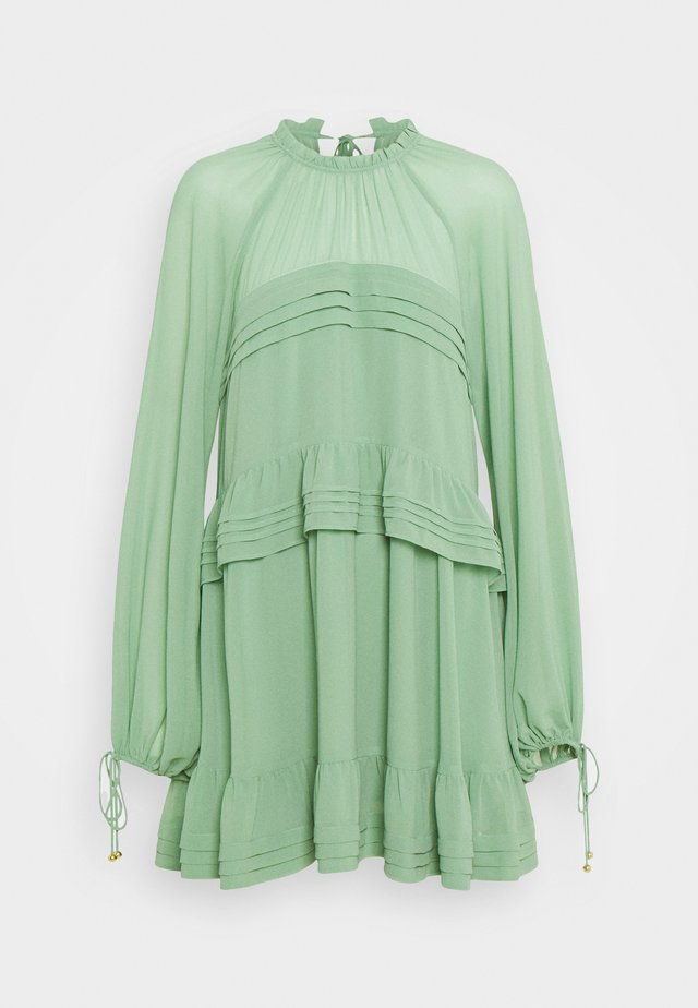 TIERED MINI - Korte jurk - mint