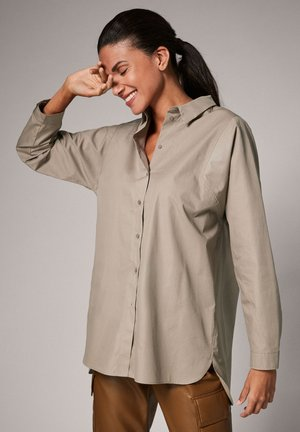 LOCKERE - Button-down blouse - taupe