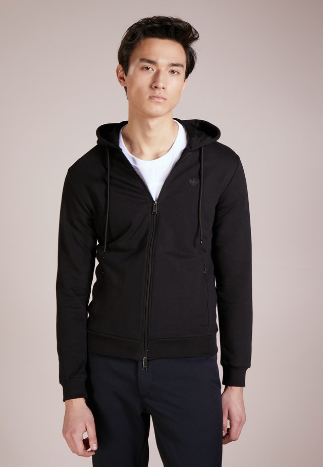 ZIPPED HOODIE  - veste en sweat zippée - nero