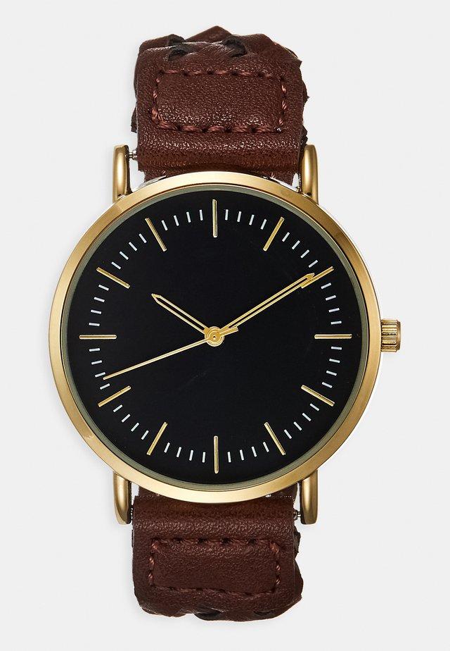 Klokke - dark brown/gold-coloured