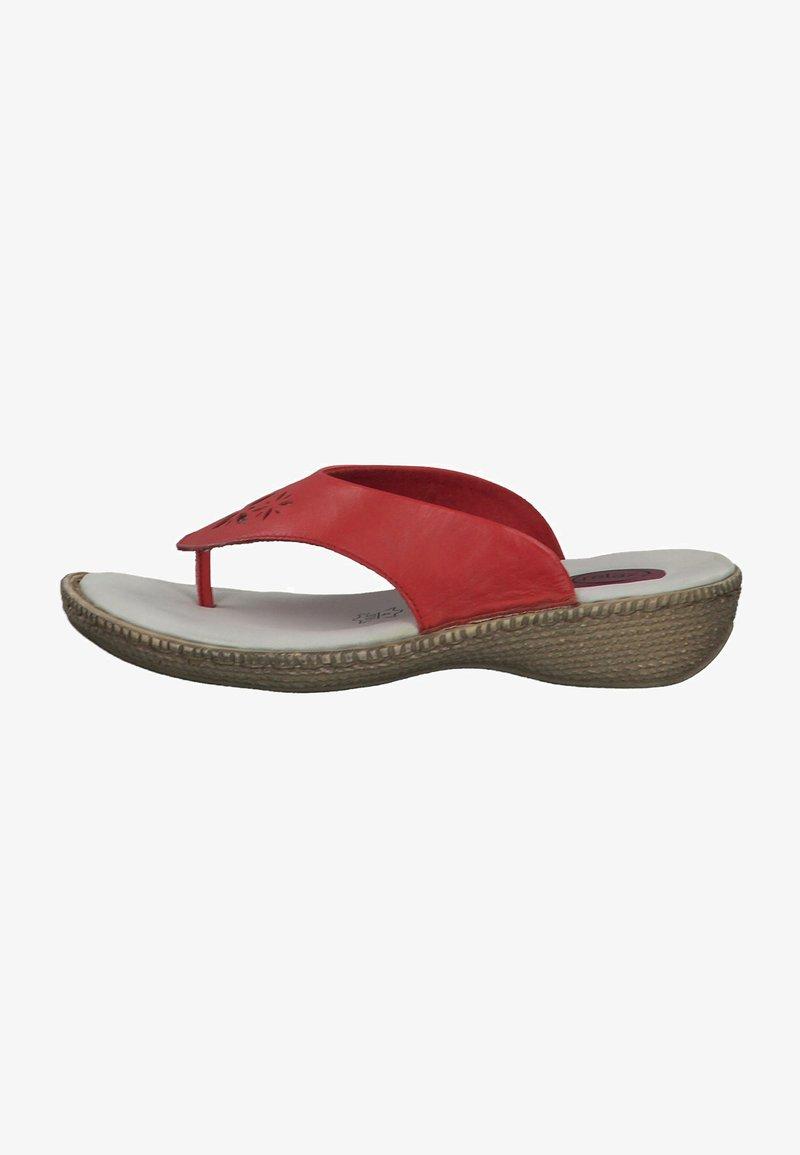Jana - T-bar sandals - red