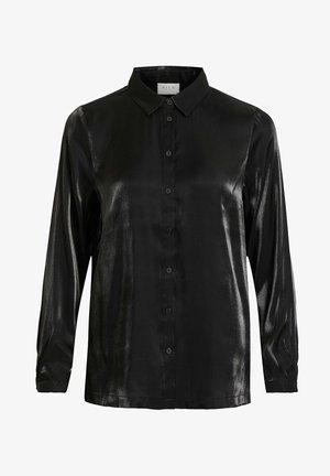 Button-down blouse - black