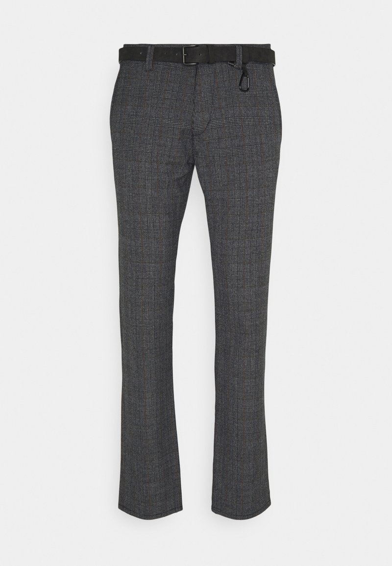TOM TAILOR DENIM - STRUCTURED - Chino kalhoty - navy grindle