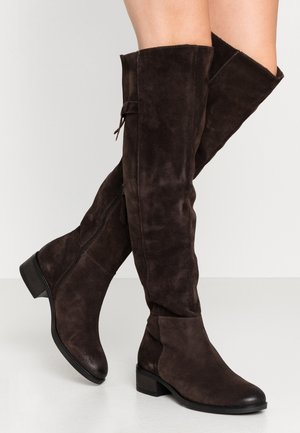 Over-the-knee boots - mocca