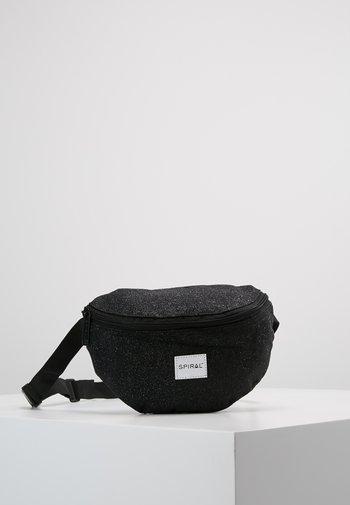 HARVARD BUMBAG - Bum bag - glitter black