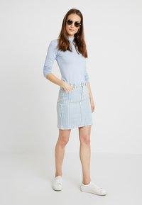 edc by Esprit - STRIPE  - Pencil skirt - blue light wash - 1