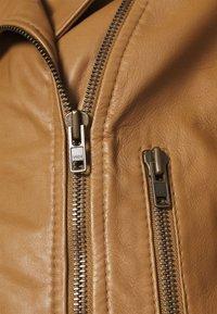 DRYKORN - PAISLY - Leather jacket - braun - 4
