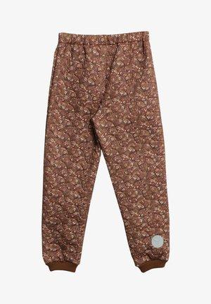 Snow pants - nutella flowers