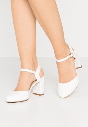 WIDE FIT SHUTTER  - High Heel Pumps - white
