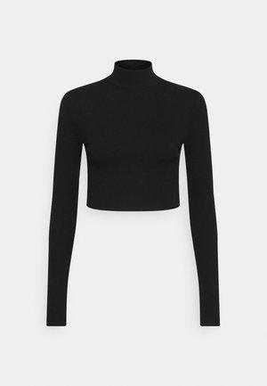 OPEN BACK KNOT DETAIL - Long sleeved top - black