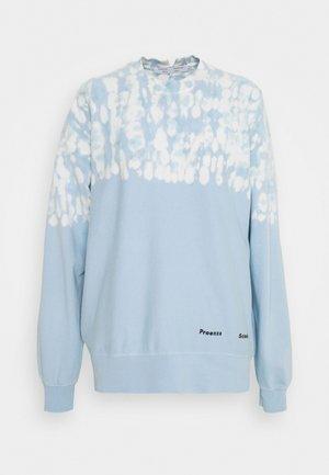 FLUID TIE DYE LONG SLEEVE - Sweatshirt - blue/pearl tie dye dot