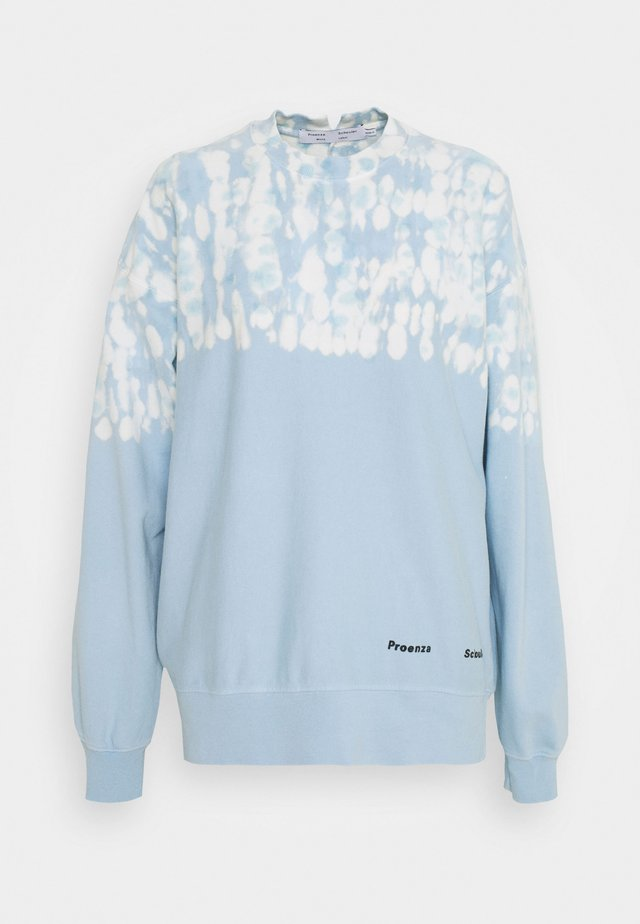 FLUID TIE DYE LONG SLEEVE - Sweatshirt - blue/pearl tie dye dot