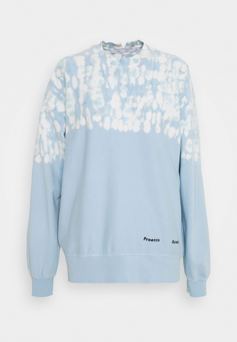 Proenza Schouler White Label - FLUID TIE DYE LONG SLEEVE - Collegepaita - blue/pearl tie dye dot