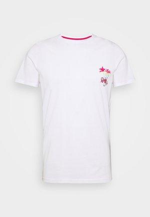UNISEX CONNER TEE - Print T-shirt - white