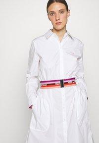 KARL LAGERFELD - STRIPE SHIRT DRESS - Shirt dress - white - 4