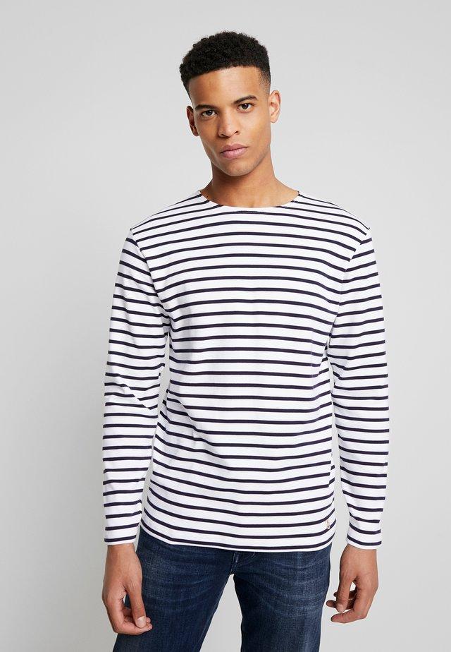 HOUAT - MARINIÈRE - T-SHIRT - Sweatshirt - white / blue