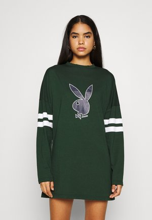 PLAYBOY VARSITY BUNNY DRESS - Žerzejové šaty - green