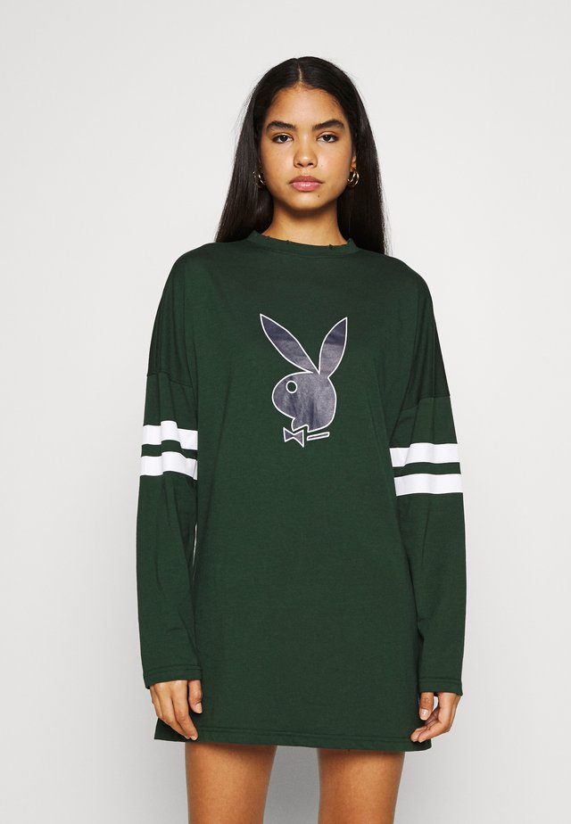 PLAYBOY VARSITY BUNNY DRESS - Jersey dress - green