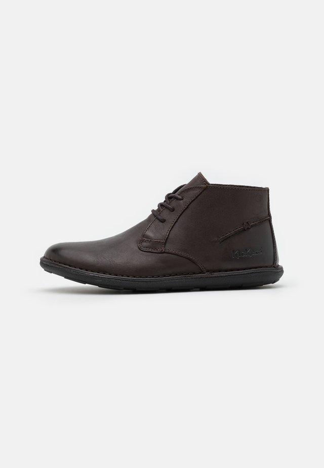 SWIBO - Casual lace-ups - marron fonce