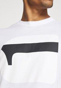G-Star - 3D NO.1 LOGO+ R T S\S - Print T-shirt - compact white - 5