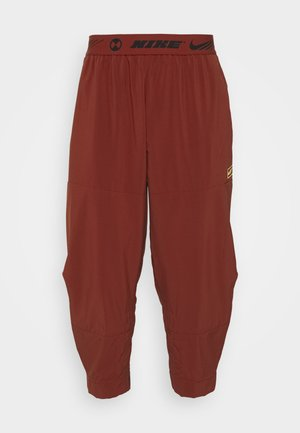 PANT - Tracksuit bottoms - dark cayenne/citron pulse