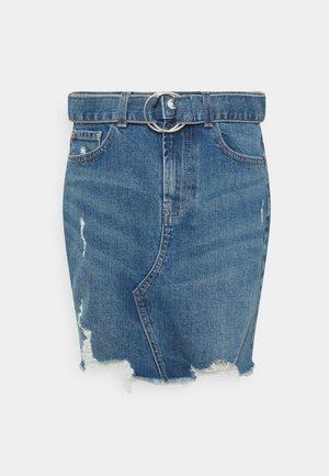 PCGERA DESTROY SKIRT - Mini skirt - medium blue denim