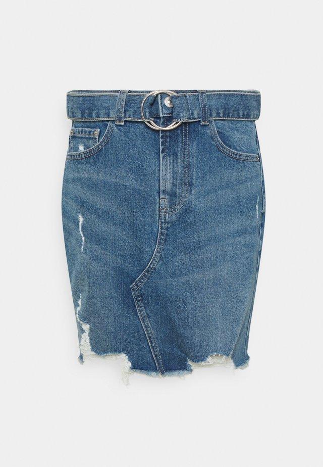 PCGERA DESTROY SKIRT - Minifalda - medium blue denim