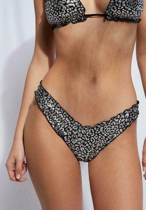 BRAZILIAN-BIKINIHOSE MIT  IBIZA - Bikini bottoms - maculato silver