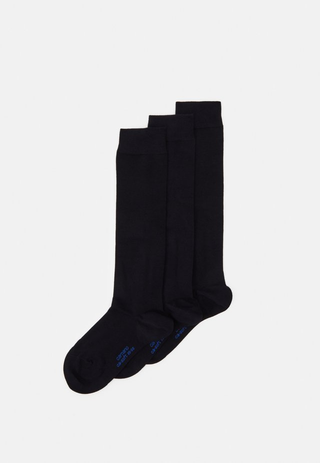 WOMEN SOFT KNEEHIGHS 3 PACK - Knee high socks - navy