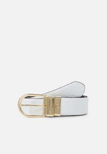 REVERSIBLE BELT - Belt - optic white