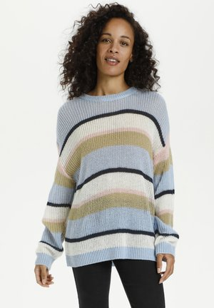 KATALIA  - Jumper - blue / pink stripe