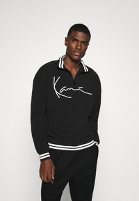 Karl Kani - SIGNATURE POLARFLEECE TROYER - Sweatshirt - black/white - 0