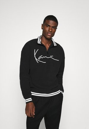 SIGNATURE POLARFLEECE TROYER - Sweatshirt - black/white