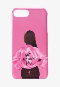 Antwerp Avenue - iPhone 6/7/8 PLUS - Telefoonhoesje - pink/black - 1