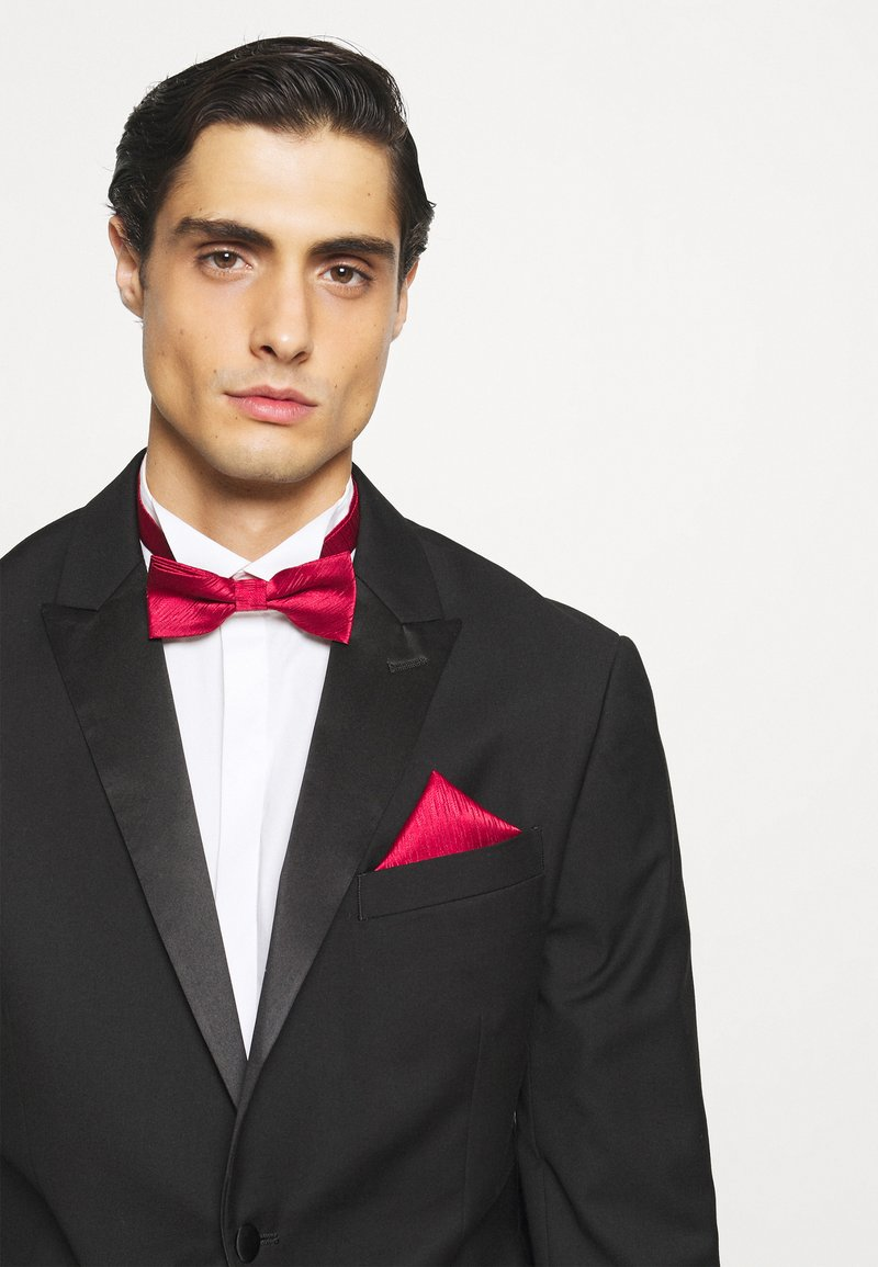 Only & Sons - ONSTANNER BOW TIE BOX SET - Pocket square - merlot