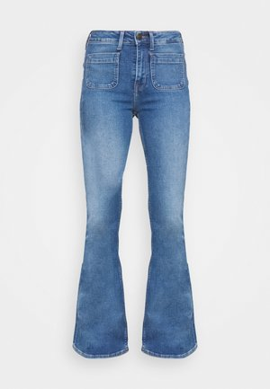 BREESE PATCH POCKET - Jean flare - blue aged
